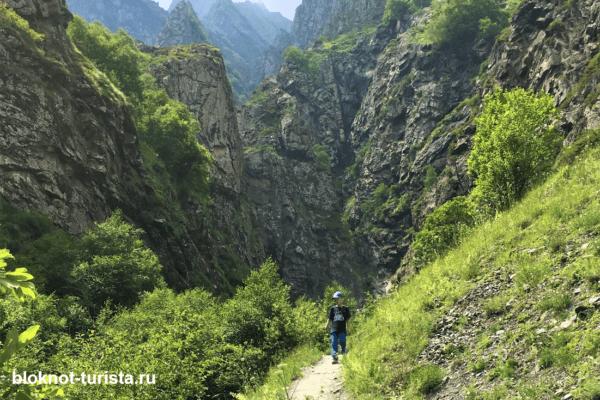 Дарьяльское ущелье недалеко от Казбеги
