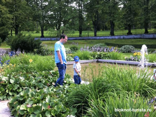 Небольшой садик в парке Тойла-Ору в Эстонии