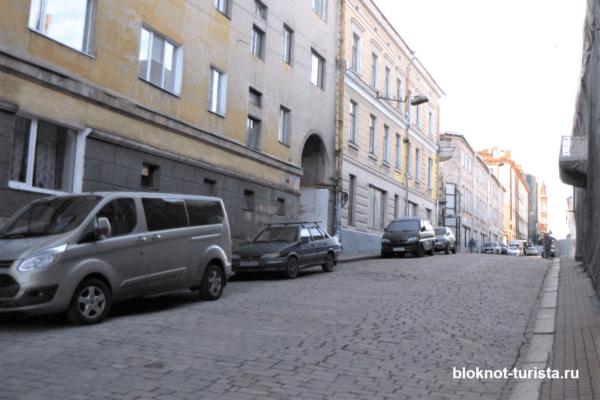 Булыжные мостовые на улицах Выборга