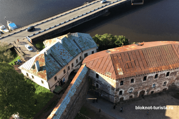 Наверху башни Олафа в Выборгском замке