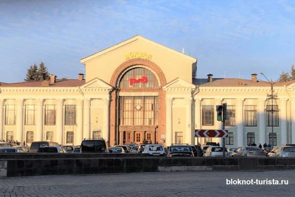Железнодорожный вокзал в центре выборга