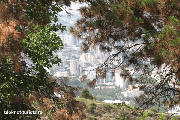 Вид с горы Мтацминда (прак Бомбора) Тбилиси