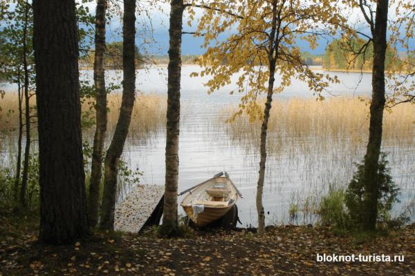 Озеро в Финляндии, где мы отдыхали