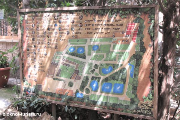 Карта Наутра Парка на острове Майорка