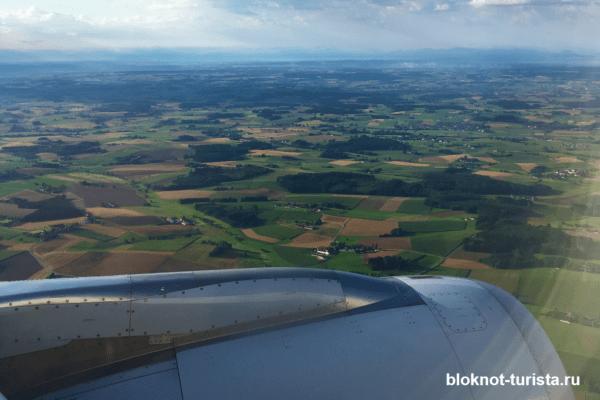 Перелет из Мюнхена на Майорку (в самолете)