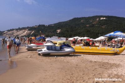 Пляж в Кранево в Болгарии, где мы отдыхали