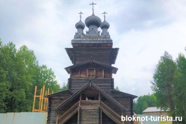 """Вознесенская церковь в """"Малых Карелах"""""""