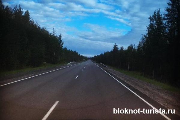 Дорога в Ладожские шхеры из Санкт-Петербурга