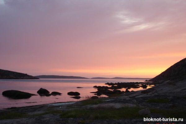 Закат на Белом море (остров Русский кузов)