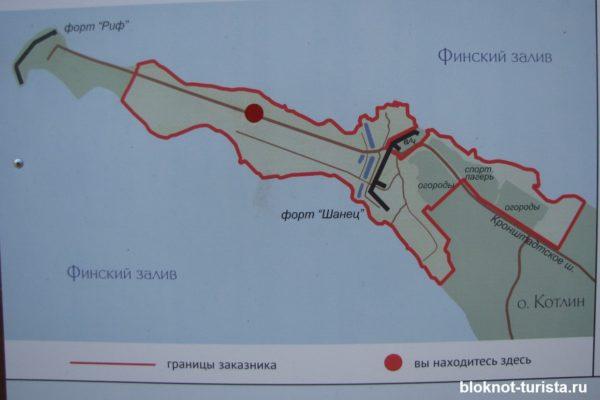 Карта фортов Шанц и Риф