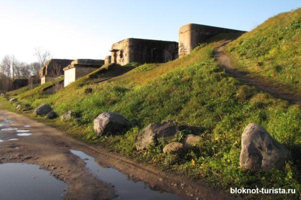 Полуразрушенный форт Шанц около Кронштадта
